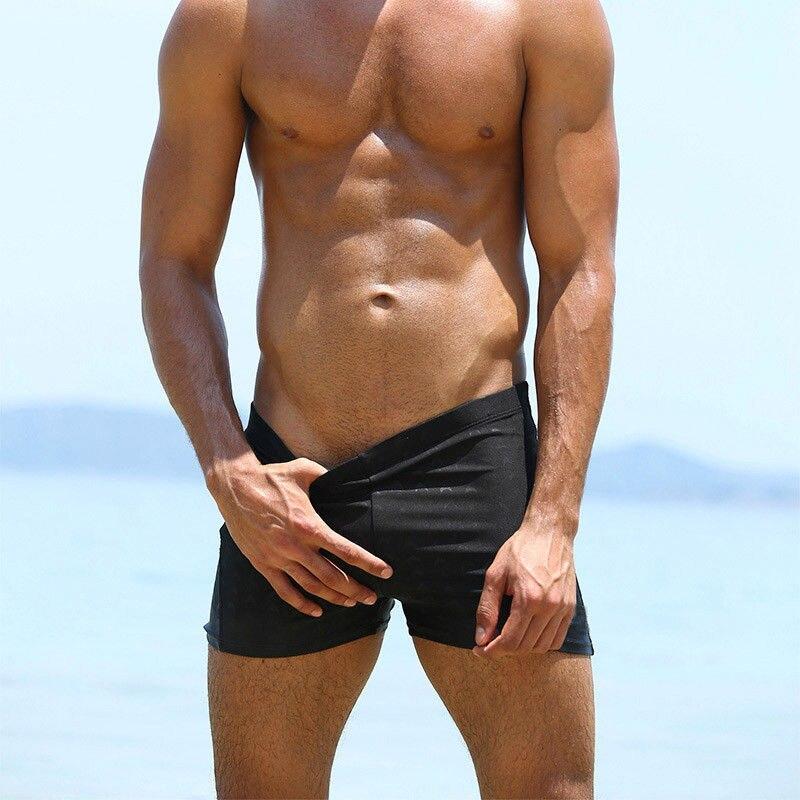 Men Boxer Briefs Swimming Swim Shorts Trunks Swimwear Swim Beach Pants Underwear