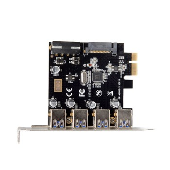 10pcs/lot Chenyang 4 Ports PCI-E to USB 3.0 HUB PCI Express Expansion Card Adapter 5Gbps for Motherboard
