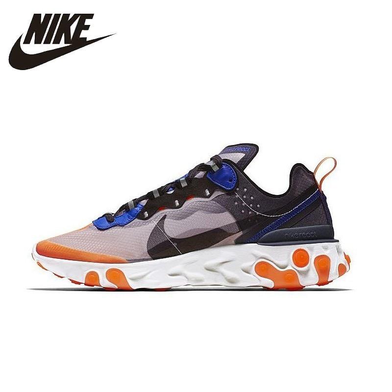 2d6cab8f415ae NIKE Reagir Elemento 87 Originais Dos Homens E Das Mulheres Running Shoes  Malha Respirável Esportes Tênis