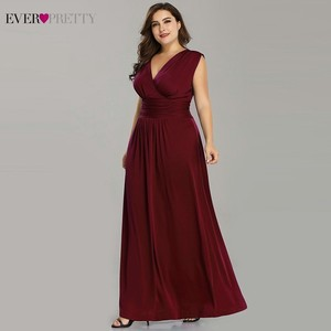 Image 3 - Plus Size Mother Of The Bride Dresses Ever Pretty V Neck A Line Chiffon Brides Mother Long Dresses For Weddings Farsali 2020