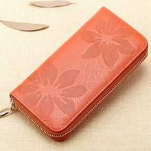 Women Long Wallet First Layer Of Leather Ladies Hand Bag Female