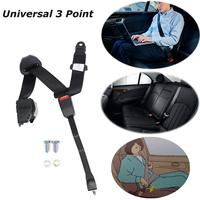 Universal 3 Point Retractable Auto Car Safety Seat Belt Lap Shoulder Adjustable Harness for All cars For Go Kart Parts Racing Ca