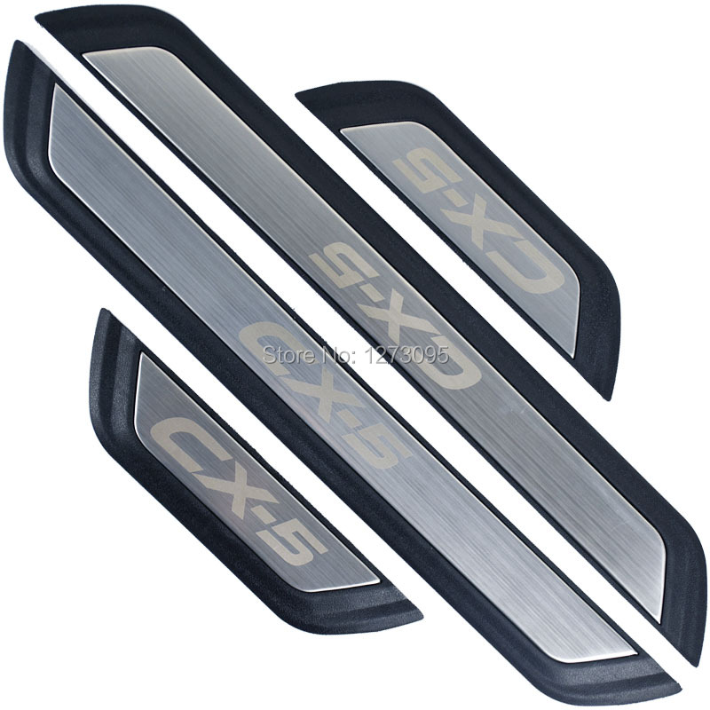 For <font><b>Mazda</b></font> CX-5 CX 5 <font><b>CX5</b></font> KF 2017 2018 <font><b>2019</b></font> Stainless Door Sill Scuff Plate Protectors Trim Kick Guard Pedal Car Styling <font><b>Accessory</b></font> image