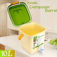 10L Household Recycle Composter Bucket Compost Barrel for Food Waste Fermentation for Organic Manure Garden Use