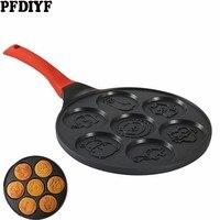 Animal Smiley Face Pancake Pan Fun Enjoy Mini Omelette Frying Pan with Double Layer Non Stick Coating Pancake Pan Breakfast Pot
