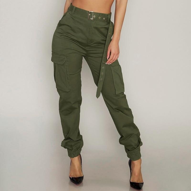 Streetwear Cargo Women   Pants   Casual Spring Joggers High Waist Loose Female Trousers Korean Style Fashion Ladies   Pants     Capri