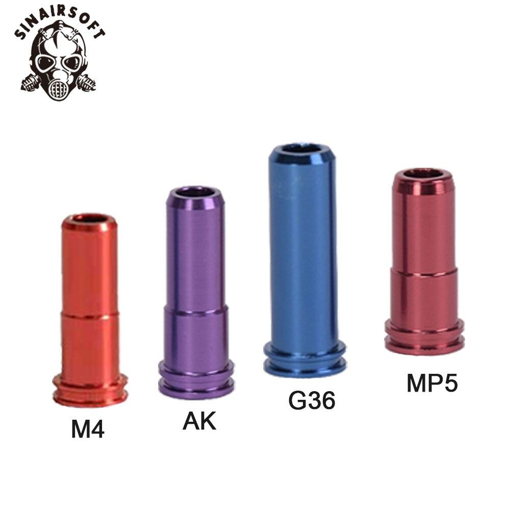 SHS 18:1 jeu d'engrenages buse cylindre ressort Guide 14 dents Piston adapté pour AEG Airsoft MP5 AK M4 M16 G36 accessoires Paintball - 3
