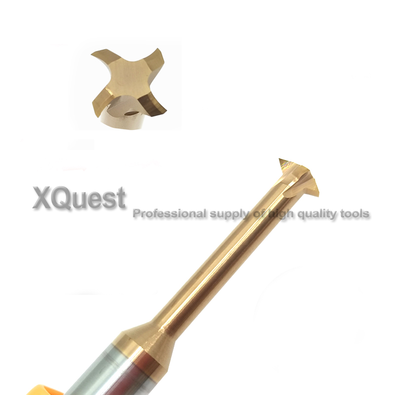 Image 3 - Tin CNC machine Solid Carbide Thread Milling Cutter R1.2 1.6 2 2.4 3 4 5 6 8 10 12 Single Flute Metric thread end mill mills-in Milling Cutter from Tools