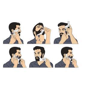 Image 4 - חדש כניסות גברים זקן עיצוב סטיילינג מסרק תבנית שקוף גברים של זקנים קומבס יופי כלי שיער זקן Trim תבניות