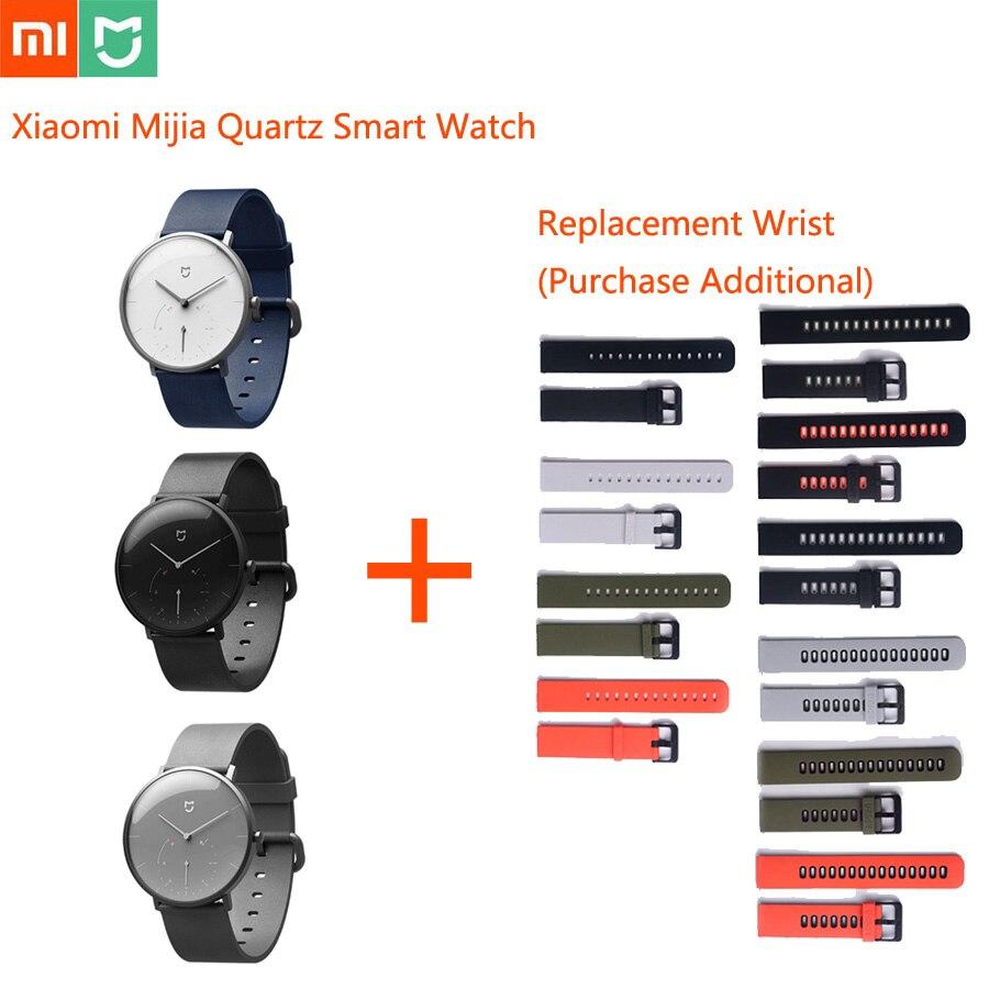 Original Xiao mi mi jia Quartz montre intelligente mi Smartwatch vie étanche automatique étalonnage temps hommes femmes Ios Android montres