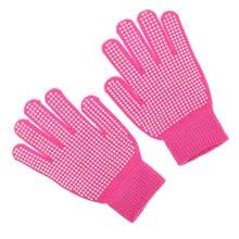 Уличная Верховая езда прыщи ладони перчатки защита рук свободный размер Розовый Красный оборудование для верховой езды
