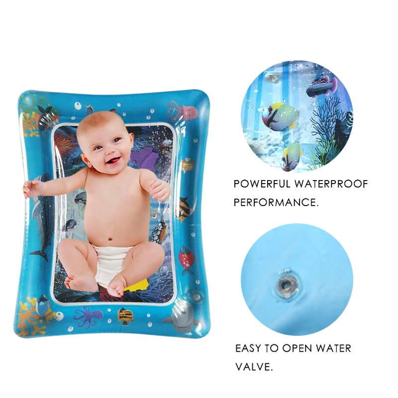 New Creative Dual Use Toys Baby Water Mat Inflatable Patted Pad Baby Inflatable Tummy Water Mat Prostrate Water Cushion Pat Pad