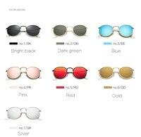 89e1c94ca New Sunglasses Women Rose Gold Metal Frame Circle Glasses Mirrored Brand  Designer Round Sun Glasses For