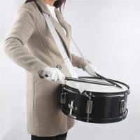 Professional 14 Inch Metal Snare Drum with Drum Sticks & Straps & Wrench for Marching Performance ( Ship from US )