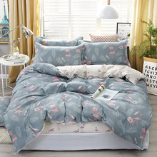 4pcs/set Cozy Bedroom Necessity Leaf Bird Printing Bedding Set Bed Linings Duvet Cover Bed Sheet Pillowcases Cover Set 51(China)
