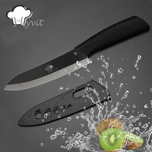 Ceramic Knife 3 4 5 6 inch Chef Utility Slicing Paring Kitchen Knife Zirconia Black Blade Colorful Handle Single Cooking Tools