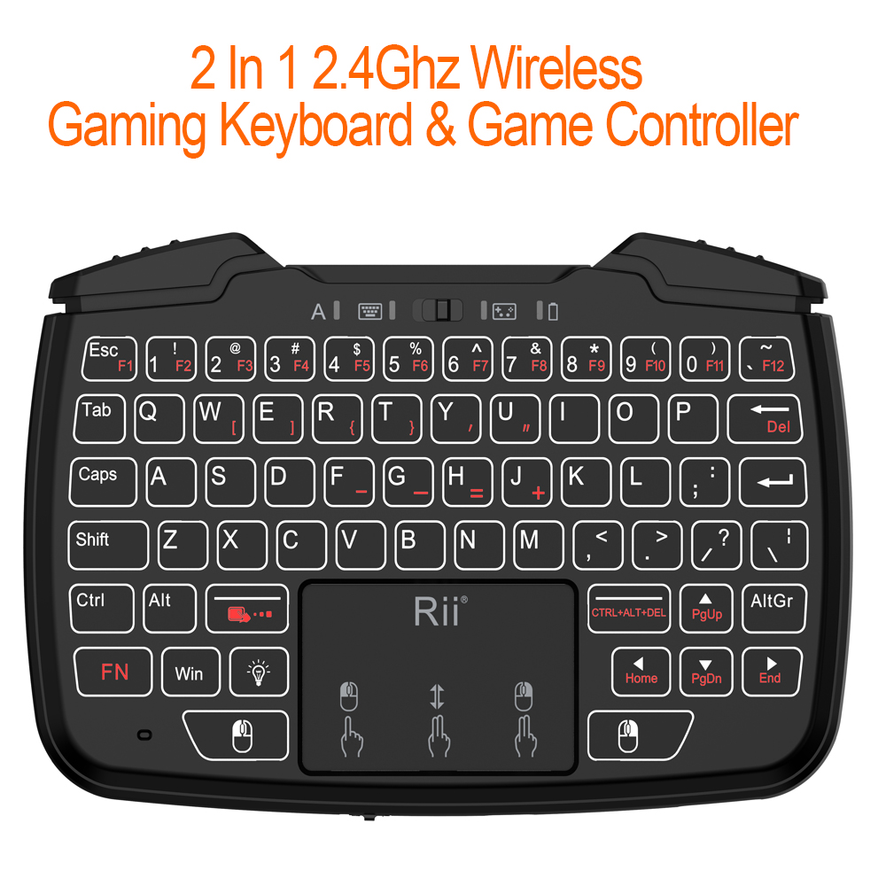 Us 33 99 20 Off 2 4ghz Mini Wireless Gaming Keyboard With Touchpad Game Controller Dpad Abxy Button L1 R1 L2 R2 Turbo Function For Tv Box Pc Ps3 In