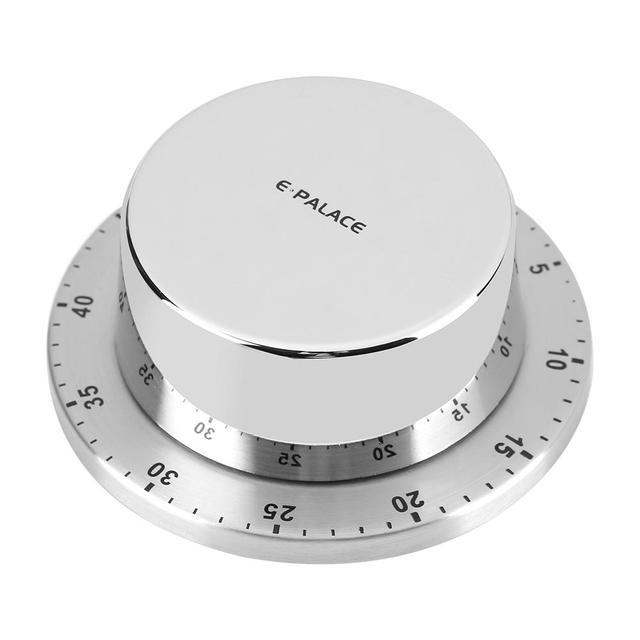 Temporizador Manual de cocina de acero inoxidable, temporizador mecánico de cocina, recordatorio de alarma, sincronización mecánica con Base magnética