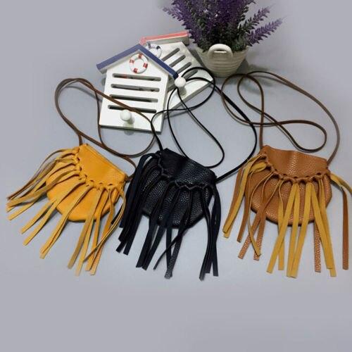 Kids Baby Girls Tassel Cute Dress Accossories Bag Coin Purses Handmade Handbags Children Tassel Purses Girl