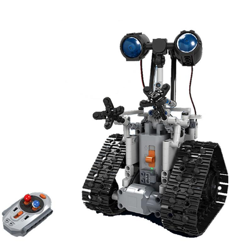 Wall e Remote Control Robot Domibot Plastic DIY RC Robot Sliding Block Building Mounted Robot Toy For Children Boy Gifts
