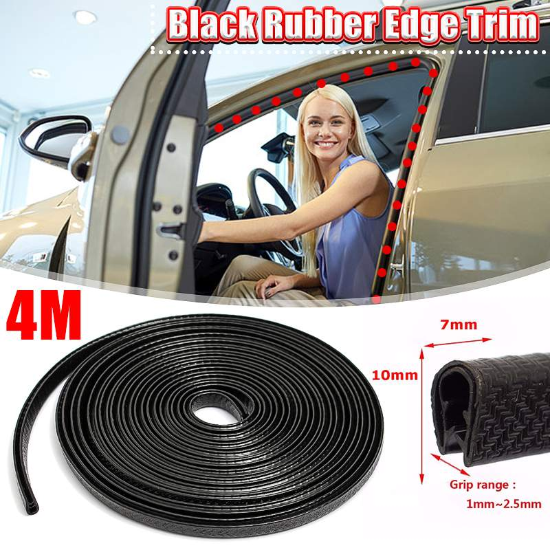 4m Car Door Edge Protector U-shaped Rubber Trim Moulding Strip Seal Waterproof
