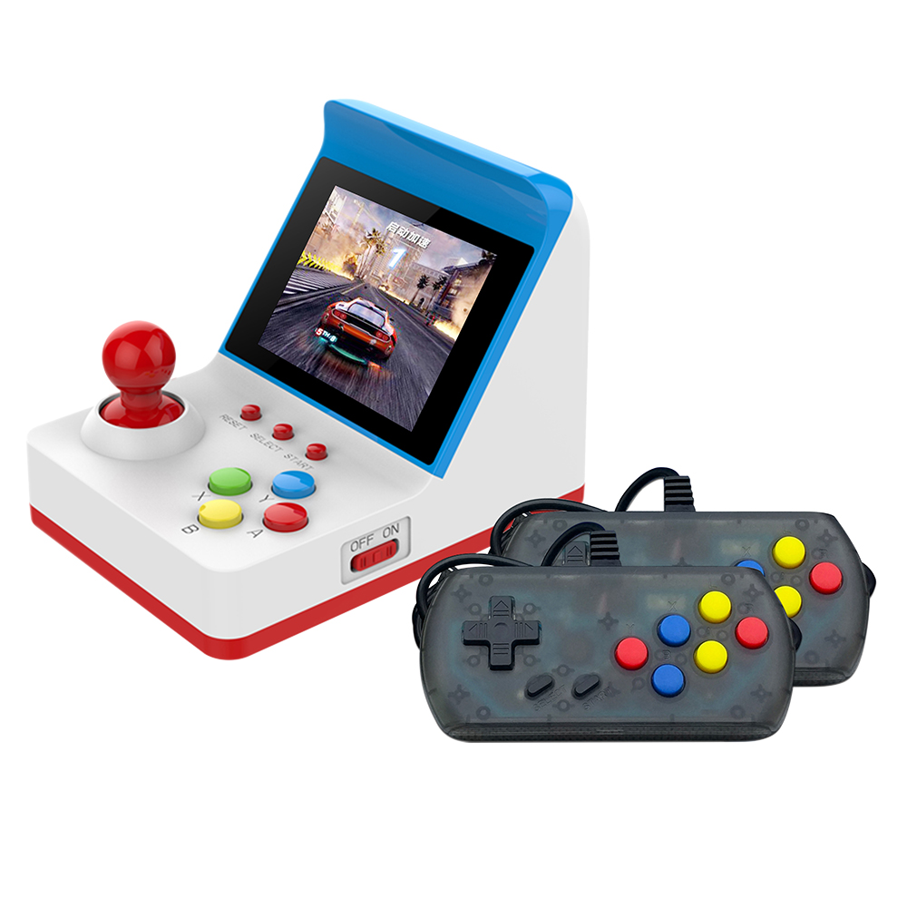 Retro Miniature Arcade Game Console Portable Handheld Game Machine 3inch Screen Dual Wired Joysticks Gamepads 360 Games for Kids