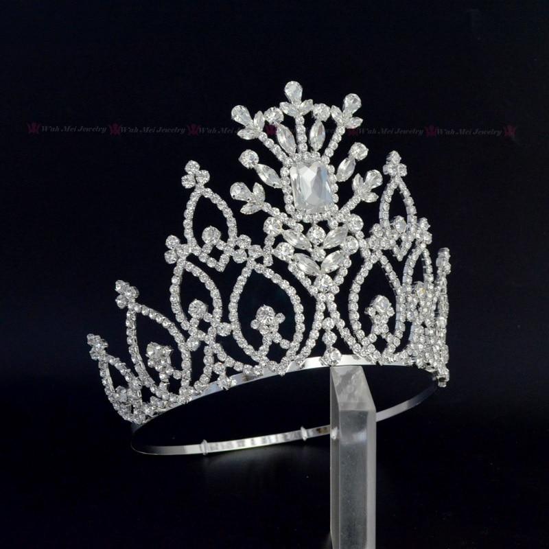 Crowns Tiaras Rhinestone Crystal Adjustable Headband For Pageant Or Bridal Wedding Hair Jewelry Queen Handmade Crown Mo243