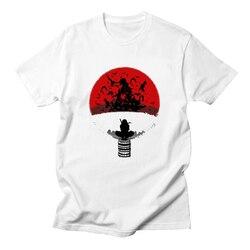 Anime Naruto wydrukowano męska koszulka Uzumaki Naruto T Shirt dla mężczyzn nowa letnia koszulka z krótkim rękawem Casual topy Tees 1