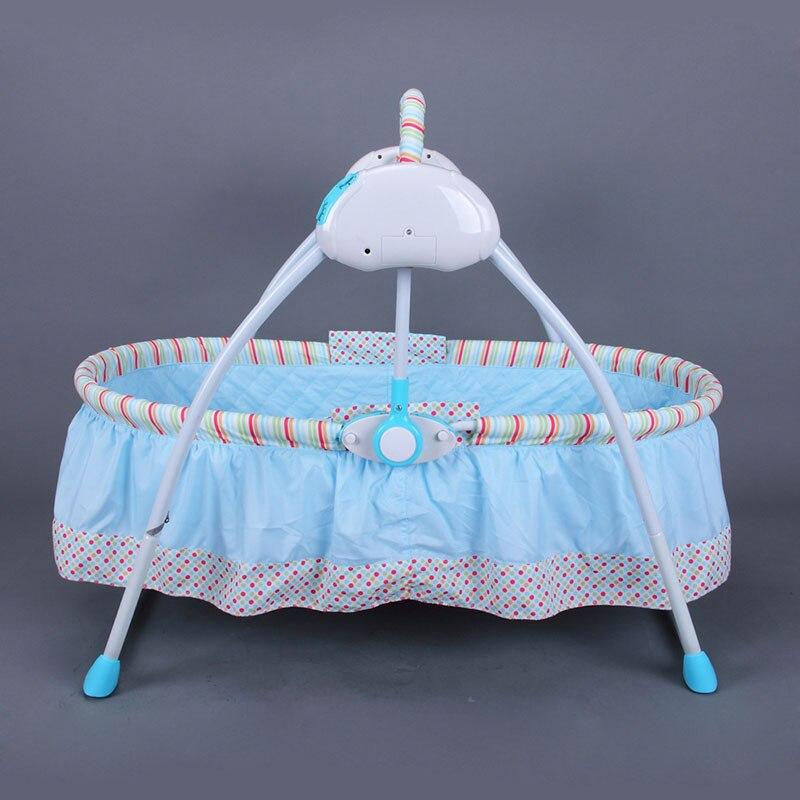 Intelligent électrique bébé berceau ensemble de lit pliable puériculture confortable dormeur voyage couffin lit bébé confort Intelligent bébé berceau lit - 5