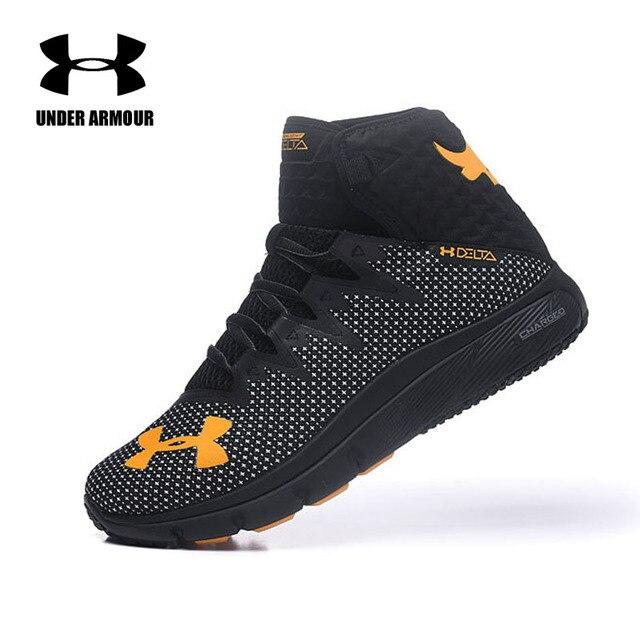 Under Armour Pria Proyek Rock Delta Sepatu Basket Kereta Sepatu Zapatos De Hombre BANTAL Sneakers 10 Warna dengan Kotak Asli