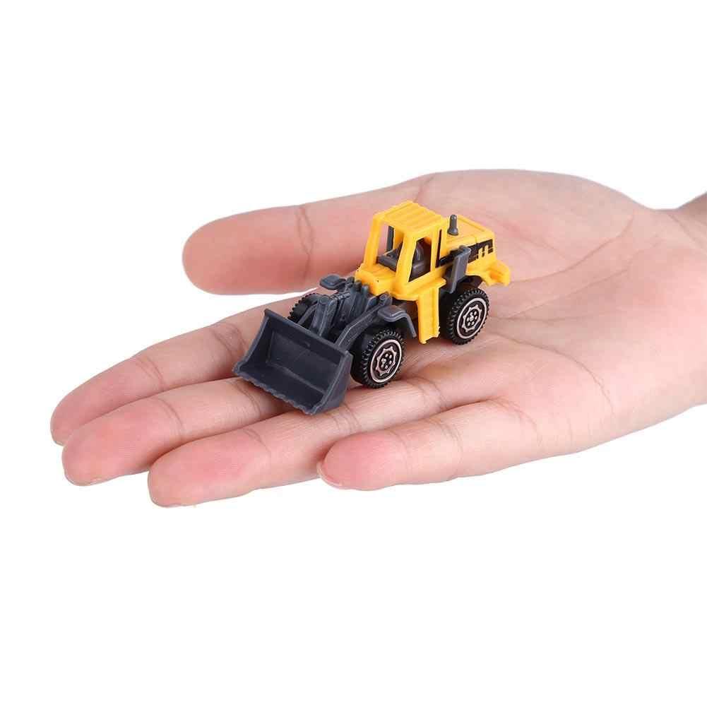 Anak-anak Diecast Mainan Membawa Truk Trailer Traktor dengan 6 Teknik Mobil Simulasi Tinggi Plastik + Paduan Mainan Truk Trailer