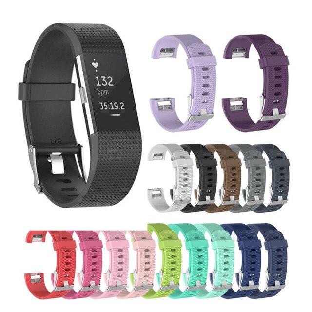 Olahraga Gelang Silikon untuk Fitbit Charge 2 Band Tali Penggantian Gelang untuk Fitbit Charge2 Smart Watch Aksesoris