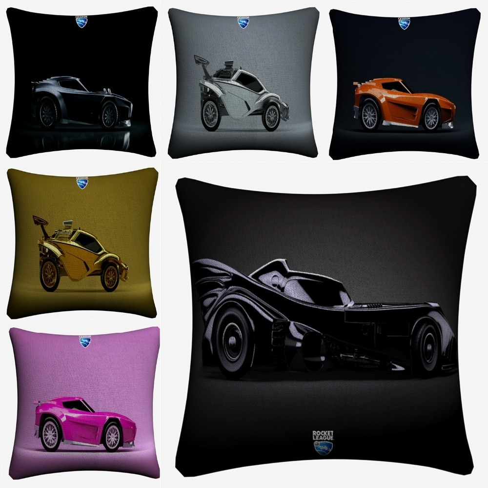Rocket League Cars Game Wallpaper Decorative Cotton Linen Cushion Cover 45x45cm For Sofa Chair Pillowcase Home Decor Almofada in Cushion Cover from Home Garden
