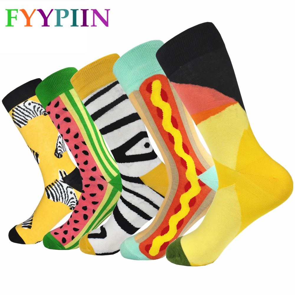 Sokken New Sale 2019 5pairs Of Men's Socks European And American Popular Boutique High Quality Long Fashion Casual Wear Cotton