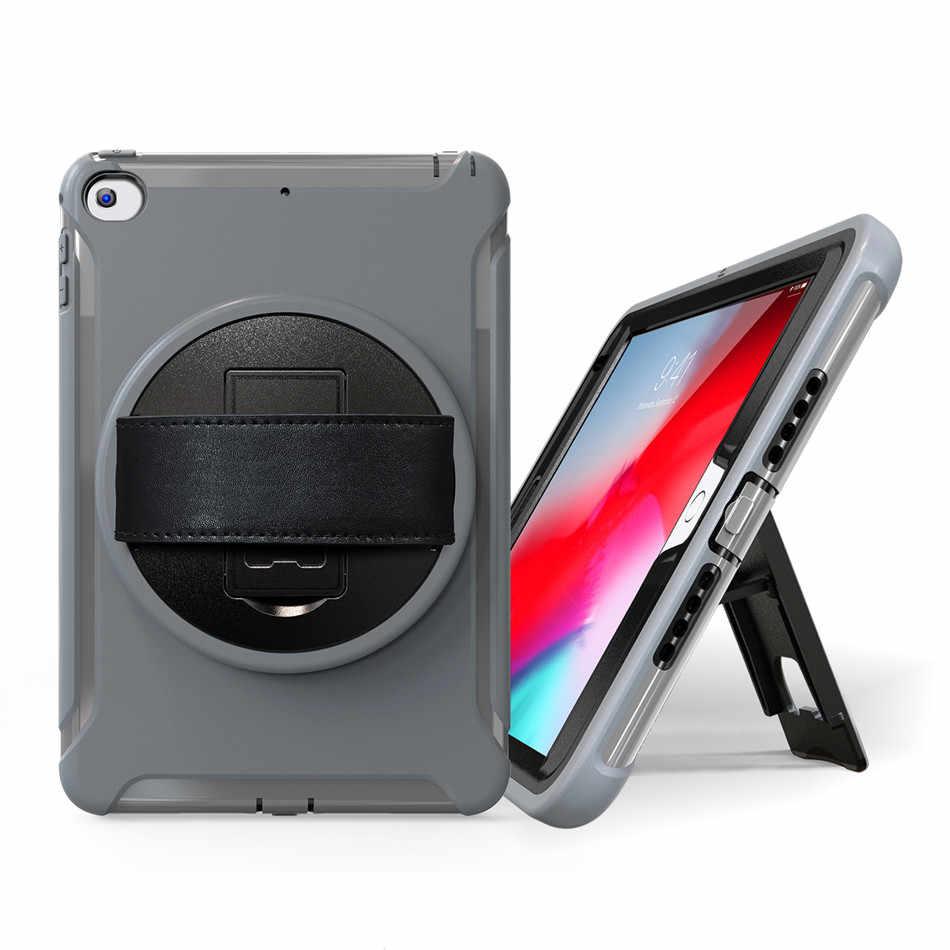 Etui do iPada mini 5 7.9 cal 2019 dzieci bezpieczny dla skóry, odporna na wstrząsy Heavy ciężka pokrywa dla iPad mini 4 uchwyt stojak + na rękę + film + długopis