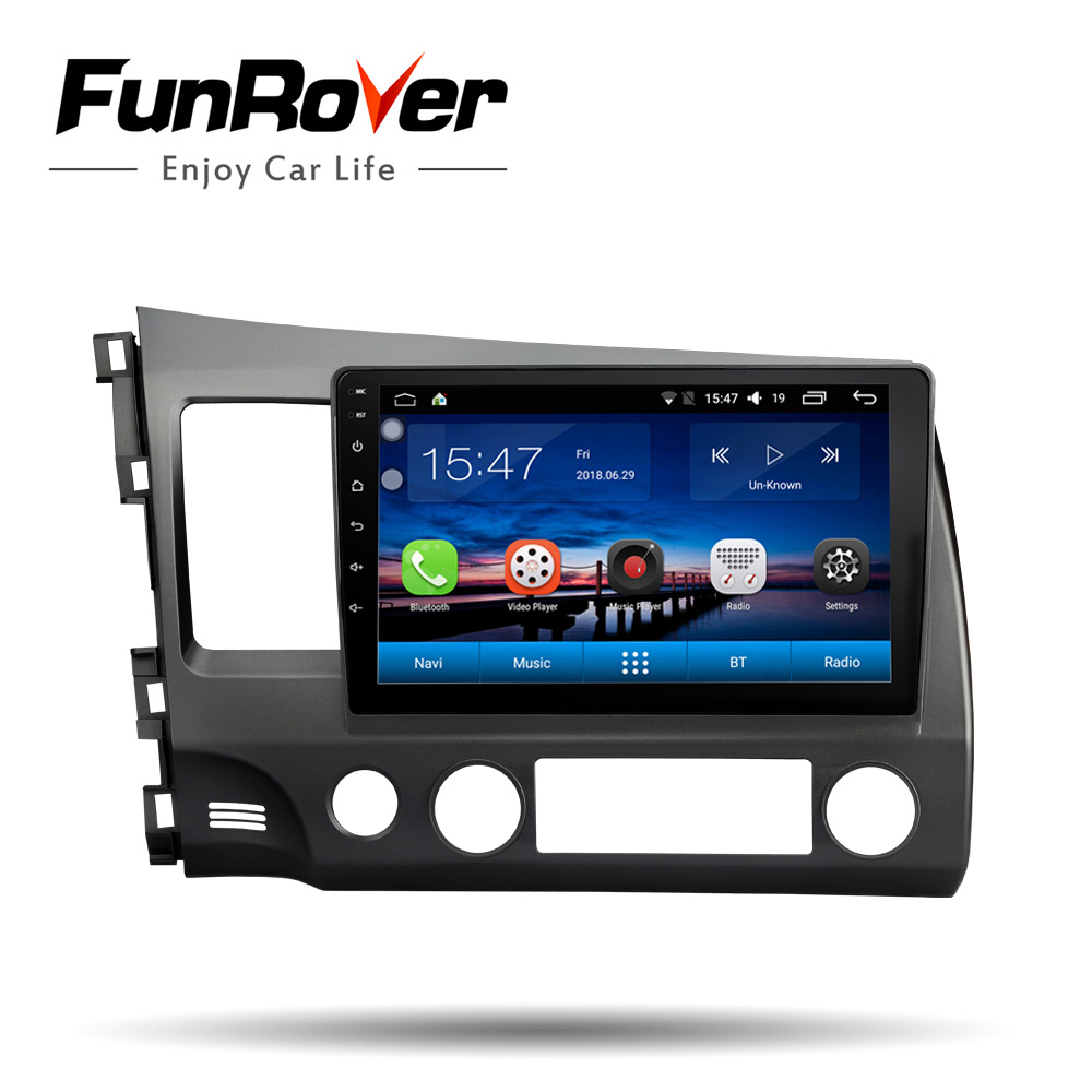 FUNROVER Android8.0 Car DVD 2 din multimedia GPS Navigation For honda Left driving CIVIC 2006-2011 vedio stereo Radio audio wifiFUNROVER Android8.0 Car DVD 2 din multimedia GPS Navigation For honda Left driving CIVIC 2006-2011 vedio stereo Radio audio wifi