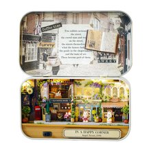 DIY Miniature Box Dollhouse Good Old Time Theme Mini Doll House Figurines & Miniatures Decoration Crafts(China)