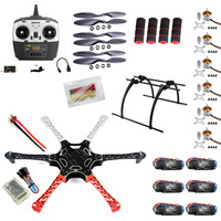 F05114 X F550 Drone FlameWheel Kit With QQ HY ESC Motor Carbon Fiber Propellers + RadioLink 6CH TX RX+Tall Landing Skid PTZ