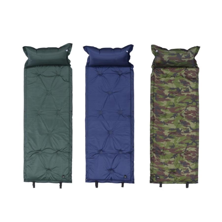 Self Inflating Camping Roll Mat Sleeping Bed Inflatable Pillow Mattress +Bag Camping Pad Picnic Beach Mat Air Mattress Bed Mats Camping Mat     - title=