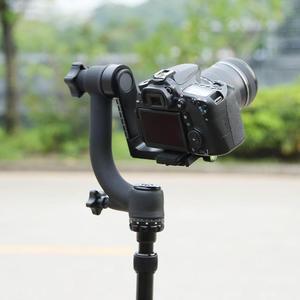 Image 2 - Profesjonalny 360 stopni panoramiczny głowica Gimbal Pan Tilt statyw aluminiowy głowica płyta szybkiego uwalniania dla DSLR teleobiektyw do aparatu