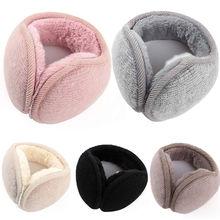 Модные женские ушные наушники, флисовые уличные теплые зимние наушники для мужчин и женщин, защитные аксессуары для ушей