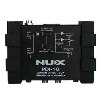 NUX PDI-1G DI Box Chitarra Iniezione Diretta Phantom Scatola di Alimentazione Mixer Audio Para Fuori di Sollevamento A Terra Design Compatto