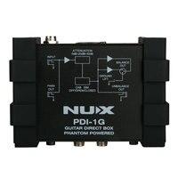 NUX PDI 1G DI Box Guitar Direct Injection Phantom Power Box Audio Mixer Para Out Ground Lift Compact Design