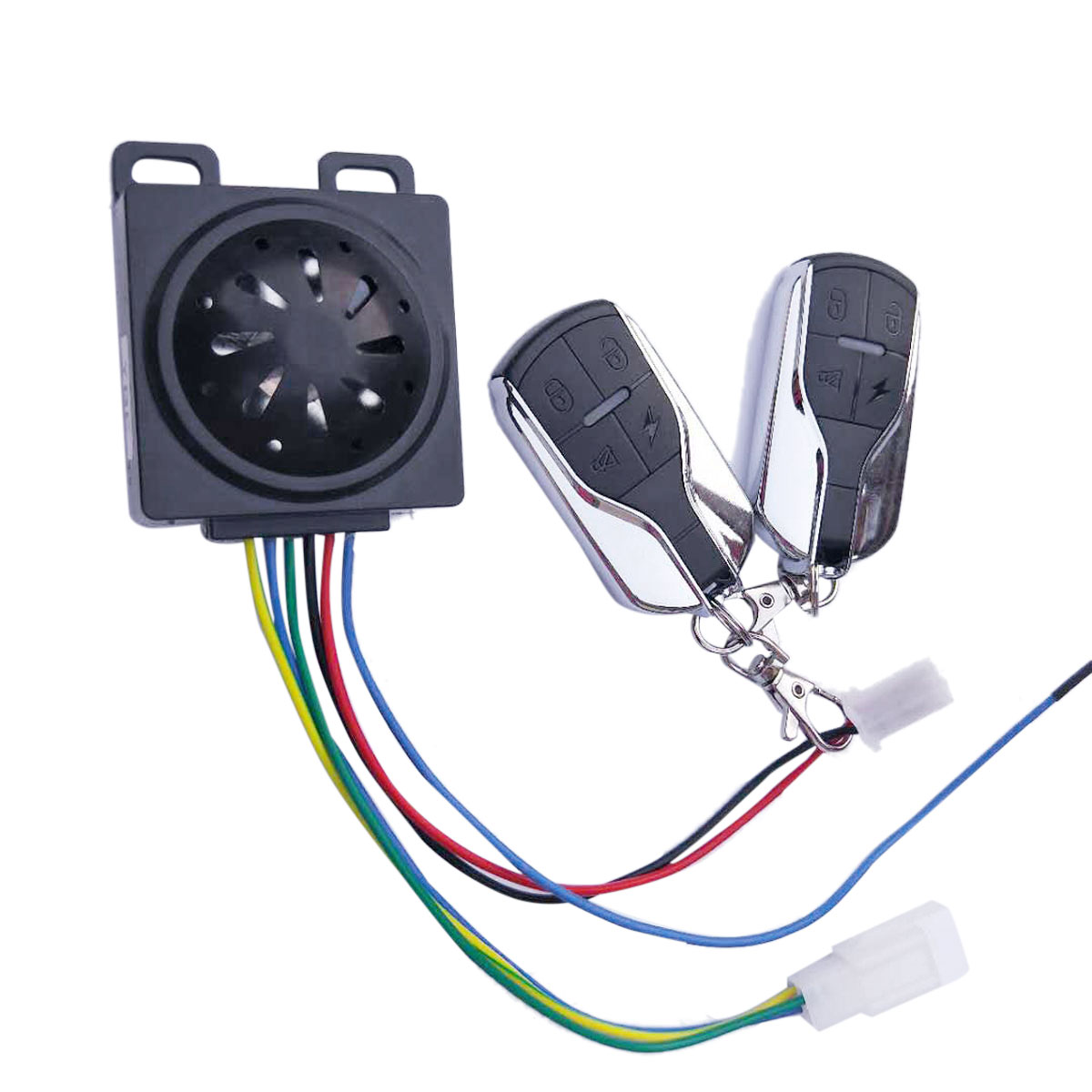 3Pc Motorcycle Security Alarm System Anti-Theft Horn Alarm Warner With Remote Control Cutting Off Engine Start System