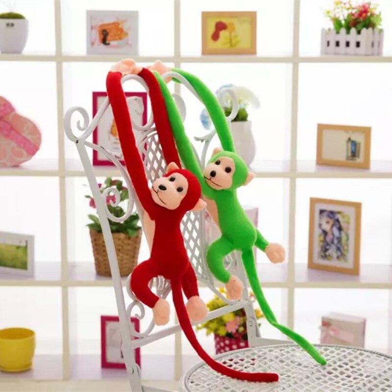 60CM Kawaii Long Arm Tail Monkey Stuffed Doll Plush Toys Curtains Baby Sleeping Appease Animal Doll Birthday Gifts(China)