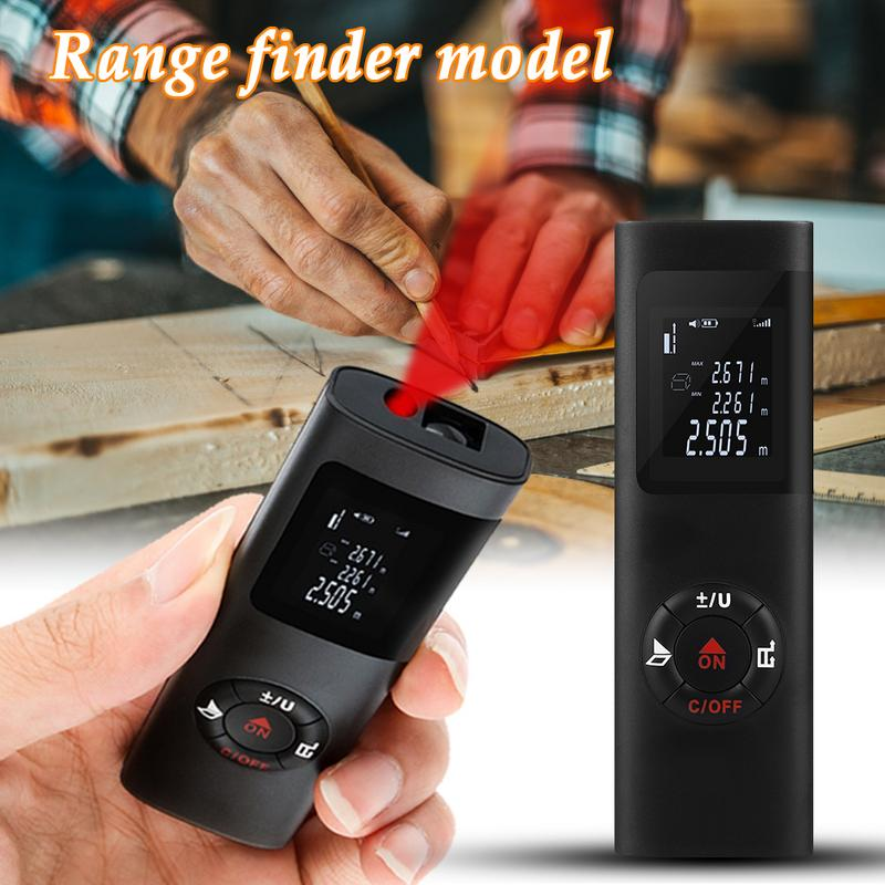 40m USB Charging Pocket Laser Range Finder High Accuracy Distance Meter