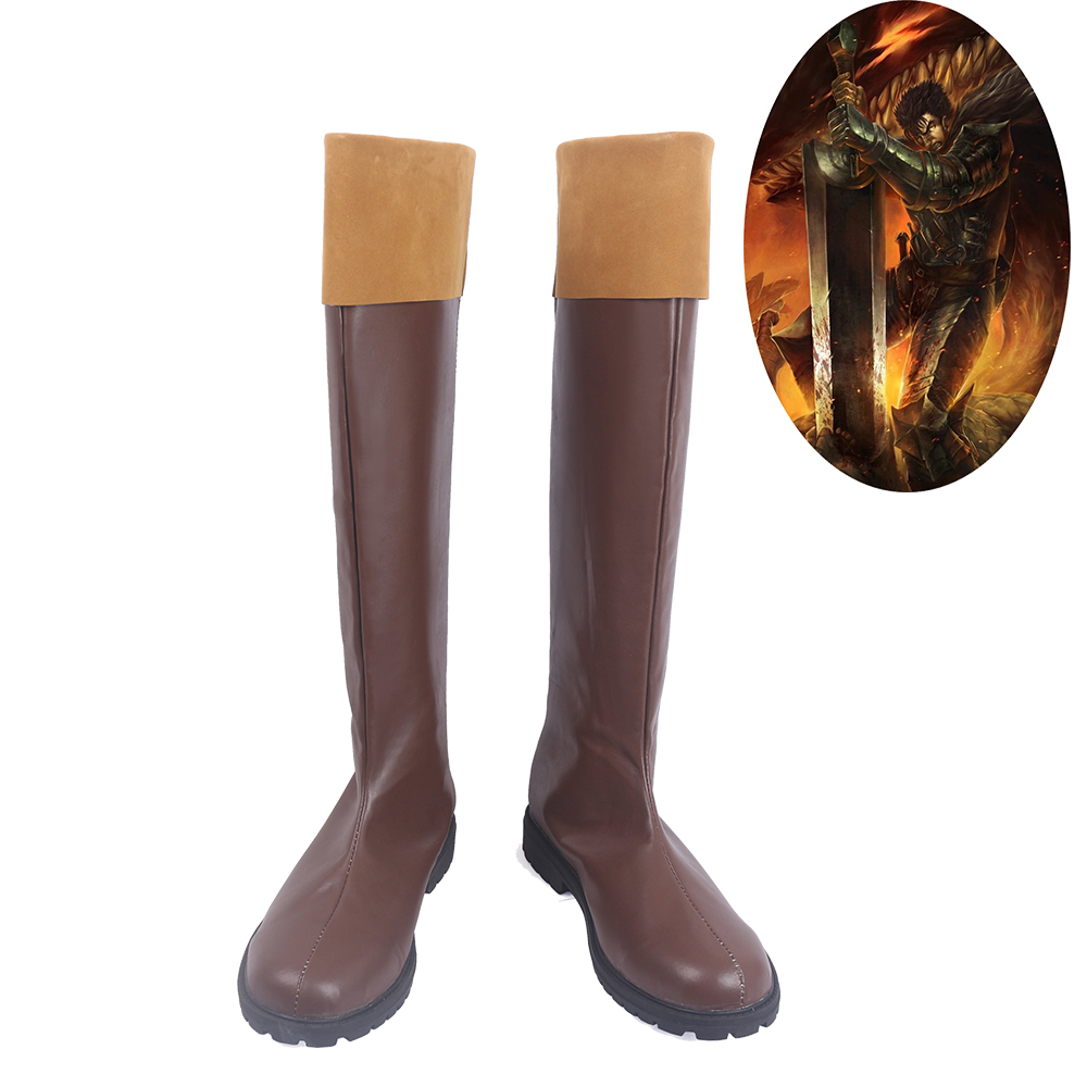 Berserk Beruseruku Guts Japan Anime Cosplay Shoes Men Boots