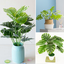 Имитация травы, искусственные растения ручной работы, искусственный букет листьев, зеленые вечерние украшения для сада и дома
