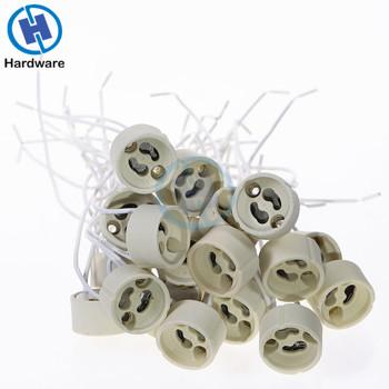 THGS 20 zestaw GU10 gniazdo (dla LED i żarówki halogenowe) tanie i dobre opinie Podstawy lampy CERAMIKA I PORCELANA