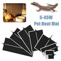 5-45W Terrarium Reptiles Heat Mat Climbing Pet Heating Warm Pads Adjustable Temperature Controller Mats Reptiles Products
